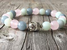 Buddha bracelet Buddha gemstone bracelet Yoga door KennlyDesign