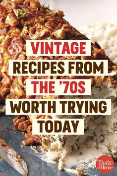 Recipes That Deserve a Comeback - - Remember making quiche, Hamburger Helper and carrot cake? Retro Recipes, Vintage Recipes, Gourmet Recipes, Crockpot Recipes, Chicken Recipes, Cooking Recipes, 1950s Recipes, Cooking Ribs, Budget Recipes