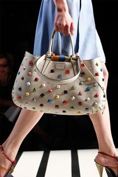studs and safety pins — FENDI studded bag/SS2012_