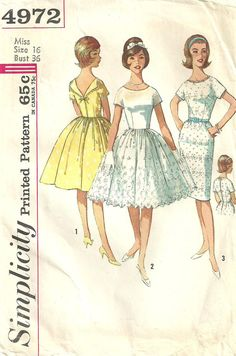 Vintage Sewing Pattern from Simplicity 4972 by studioGpatterns