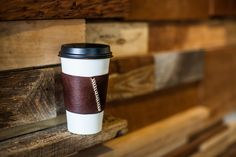 Reusable leather coffee sleeve - coffee cozy - hand stitched - latte - cafe - barista
