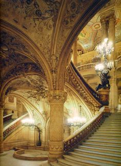 Stairway at the Palais Garnier, Paris.