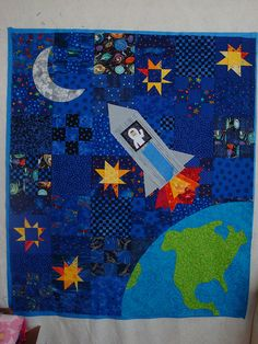 Outer space quilt idea
