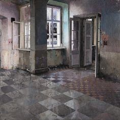 Matteo Massagrande's Paintings of Desolate Interiors