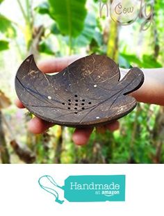 Coconut Shell Leaf Soap Dish from Thai Holy Cow https://www.amazon.com/dp/B01GXCJM7K/ref=hnd_sw_r_pi_dp_jMOMxb650CCVP #handmadeatamazon