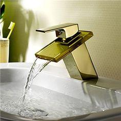 Zeige Details für Wasserfall Bad Waschtischarmatur (Ti-PVD-Oberfläche)
