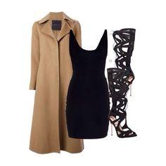 Ermanno Scervino coat ($2566), T by Alexander Wang dress ($615) and Carvela gladiator heels ($295) xx #Padgram
