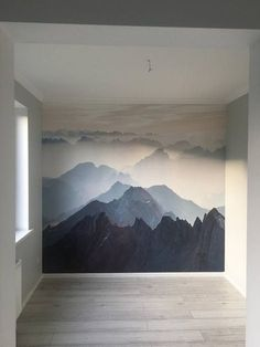 Mystical mountains mural Misty Mountain Shadow foggy amazing mountain mural wallpaper wall decor wall sticker home decor wall art Mystic Mountain, Mountain Mural, Mountain Decor, Mountain Nursery, Mountain Paintings, Wall Art Decor, Room Decor, Blue Wall Decor, Art Mural