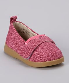Look what I found on #zulily! Sneak A' Roos Hot Pink Canvas Squeaker Shoe by Sneak A' Roos #zulilyfinds