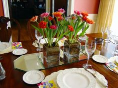 Mother's Day Tablescape Idea from Gray Estates