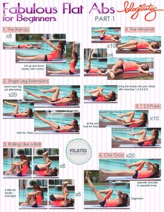 Fabulous Flat Abs part 1@Blogilates #fitfluential