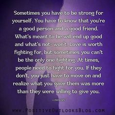 Be strong for yourself