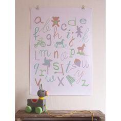alfabetposter kinderkamer