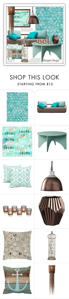 """""""Bright Rugs"""" by marionmeyer ❤ liked on Polyvore featuring interior, interiors, interior design, home, home decor, interior decorating, Michael Amini, Arlee Home Fashions, Dot & Bo and CB2"""