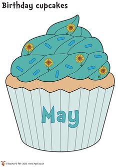 Teacher's Pet - FREE Classroom Display Resources for Early Years (EYFS), Key Stage 1 (KS1) and Key Stage 2 (KS2) Cupcake Bulletin Boards, Birthday Bulletin Boards, Birthday Board, Free Birthday, Birthday Cupcakes, Birthday Display In Classroom, Classroom Board, Classroom Displays, Classroom Setting