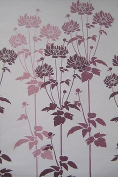 Flower Stencil Garden Anemone Reusable by CuttingEdgeStencils