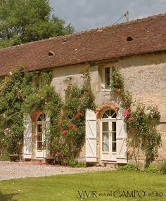 This charming mill house sits along the river Loire in France.