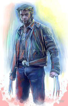 Wolverine Hugh Jackman 11X17 Artist's Print by TheArtofGARD