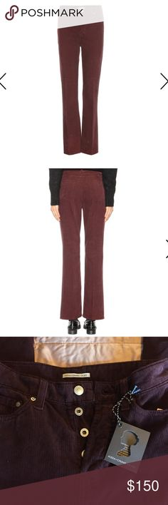 Alexa Chung for AG corduroys Deep purple/ maroon corduroys, designed by Alexa Chung for AG. Brand new, with tags. Retail for $198. AG Adriano Goldschmied Pants