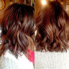 Warm and inviting... loving this balayaged - Shattered Bob by McKenzie @seasonssalonanddayspa #seasonssalon #lorealpro #color #colorspecialist #newhair #newstyle Ask about our FREE WAX OFFER! #Padgram