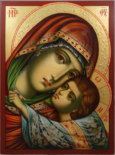 The Virgin Eleousa (halo relief) -This is a premium quality icon painted using traditional technique. About our icons Blessedmart offers hand-painted religious icons that follow the Russian, Greek, Byzantine and Roman Catholic traditions. We partner with some of the most experienced iconographers in the country. Artists with more than 20 years of experience in modern iconography. Each