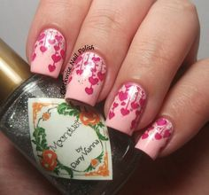 The Clockwise Nail Polish: by Dany Vianna Moondust & Velntine's Day Nail Art