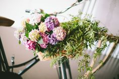 Unstructured Hydrangeas / Sam & Chelsea: Summer Loving / Real Wedding / Photographed by Brooke Adams / View full post on The LANE