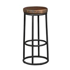 The simple Kosas Home Kendall Backless Barstool works well in rustic and industrial settings. This round bar stool is designed to fit easily anywhere. Rustic Bar Stools, Metal Bar Stools, Counter Bar Stools, Swivel Bar Stools, Metal Chairs, Swivel Chair, Backless Bar Stools, Dining Room Bar, Dining Area
