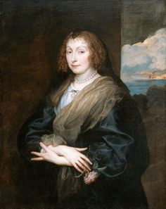 Portrait of a Woman with a Rose, Anthony van Dyck