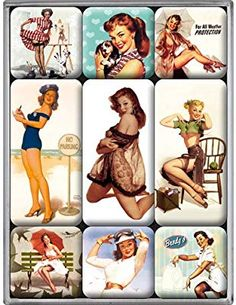Nostalgic-Art 83019 Pin Up - Parking, Magnet-Set Pin Up Girls, Art Magazin, Nostalgic Art, Gadget Gifts, Retro Design, Rockabilly, Retro Vintage, I Shop, Wonder Woman