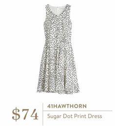 Stitch Fix - 41 Hawthorn Sugar Dot Print Dress $74