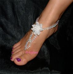 how to make foot jewelry for beach wedding | Barefoot Sandals - Foot Jewelry -beach-wedding Fj-0005 Auctions - Buy ...