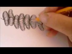 How to draw tanglepattern Mr. E - YouTube