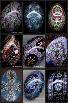 Beautiful Pysanka, Pysanky Egg Art by So Jeo