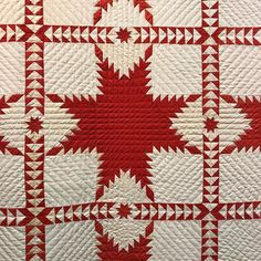Two Color Quilts, Red And White Quilts, Country Quilts, Textile Fabrics, Quilting Patterns, Pattern Blocks, 2 Colours, Type 3, Making Out