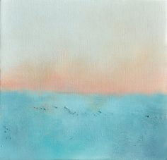 Seascape 42 - original Abstract painting / modern seascape 8x8 Inch on Etsy, $48.00