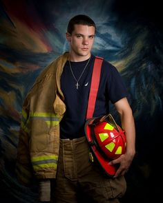 Senior pic for my future firefighters.... Different background tho....
