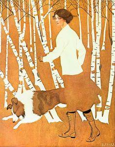 Fadeaway Girl, Pals (c.1920) by C. Coles Phillips