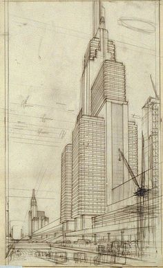 Hugh Ferris. The Metropolis of Tomorrow. Doctor Ojiplático