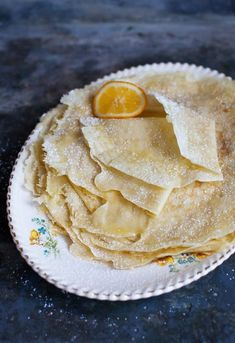 Beginners can learn how to make a basic crêpe recipe with this tutorial, including recommended tools and suggested toppings. Walnut Butter, Honey Butter, Homemade Crepes, Crepe Batter, Savory Crepes, Birthday Breakfast, Crepe Recipes, Spiced Apples, Non Stick Pan
