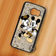 Cute Love Minnie Mickey Mouse Vintage - Samsung Galaxy S7 S6 S5 Note 7 Cases & Covers