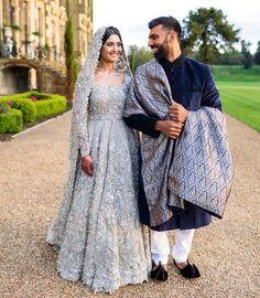 muslim wedding gowns with hijab Wedding Outfits For Groom, Pakistani Wedding Outfits, Pakistani Wedding Dresses, Bridal Outfits, Indian Dresses, Walima Dress, Wedding Hijab, Indian Outfits, Wedding Gowns