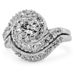14K White Gold The Anaïs Ring Set, large top view