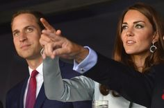 Prince William, Duke of Cambridge and Catherine, Duchess of Cambridge, attend the Opening Ceremony of the London 2012 Olympic Games at the Olympic Stadium on July 27, 2012.