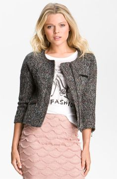 Meh, could do without the jacket {Sanctuary Jacket, Tee & Skirt | Nordstrom}