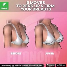 Moves to Lift, Firm and Perk Up Your Breasts! Give your boobs a lift with this upper-body strength workout routine.Give your boobs a lift with this upper-body strength workout routine. Fitness Workouts, Butt Workout, At Home Workouts, Fitness Motivation, Breast Lift Workout, Underarm Workout, Upper Body Strength Workout, Strength Training, Chest Workouts