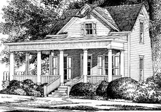Eplans Country House Plan - Williams Bluff from The Southern Living Lake House Plans, Best House Plans, Dream House Plans, Small House Plans, House Floor Plans, Dream Houses, Southern Living House Plans, Country House Plans, Smart Home Design