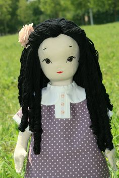 Erika - handmade doll using a pattern (with small modifications) by Jill Hamor from her new book, Storybook Toys