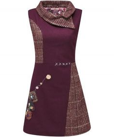 """We've put a twist on tradition with this totally unique tunic. Mixing heritage check with appliqué patches, embroidery and decorative buttons, the shift style is so flattering. Approx Length: 84cm Our model is: 5'7""""   Sizing note:  Some customers have found this item to be a small fit, so you might want to order a larger size than you would usually."""