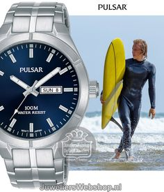 d37bd898c07 Het Pulsar PS6099X1 herenhorloge is een horloge met een sportieve look. Het Pulsar  horloge heeft